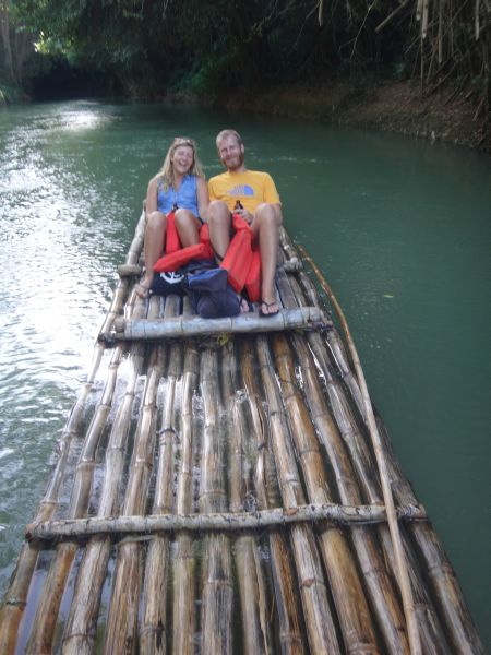 Floßfahrt auf dem Martha Bae River