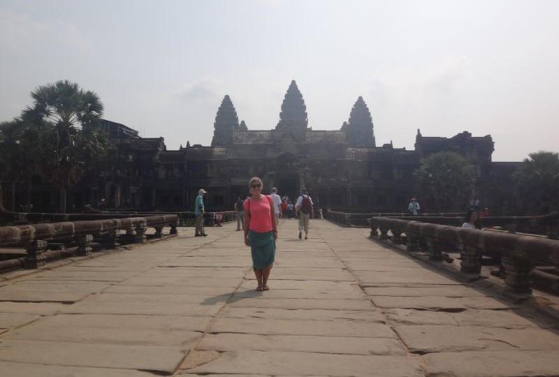 Steffi in Angkor Wat