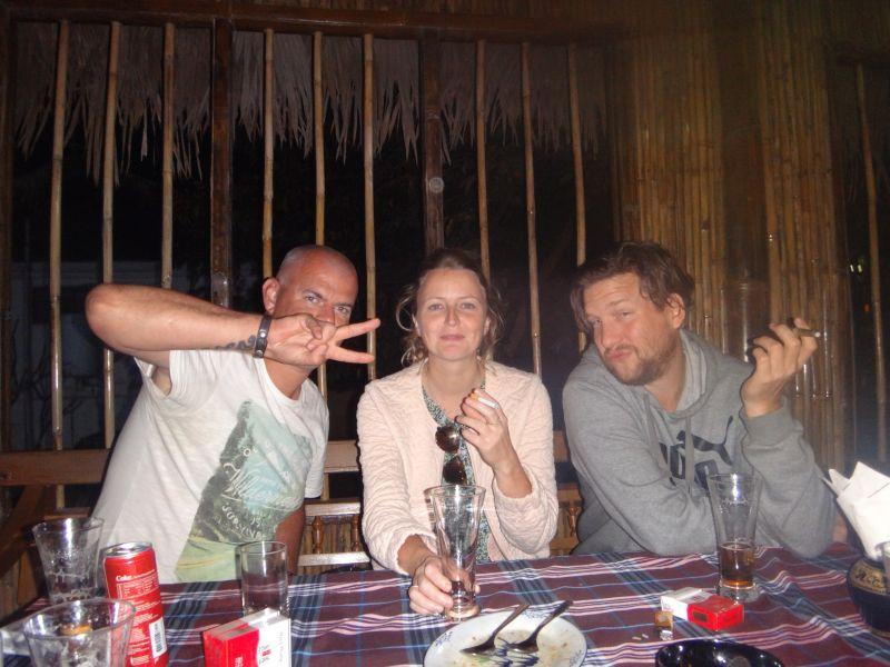 Richard, Senu und Merlijn